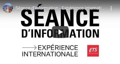 Expérience internationale séance d'info